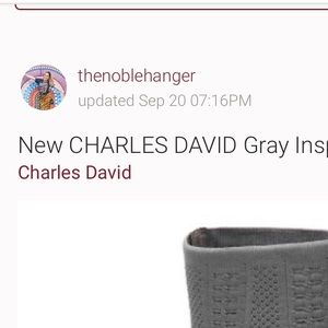 Charles by Charles David gray inspector booties